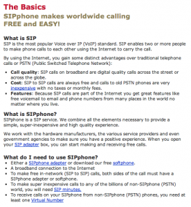 SIPphone Basics